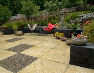 modern backyard design concrete patio jeffrey gordon smith landscape architecture los osos ca
