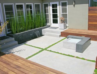 Modern, Concrete, Patio, Fire Feature Concrete Patio DC West Construction  Inc. Carlsbad