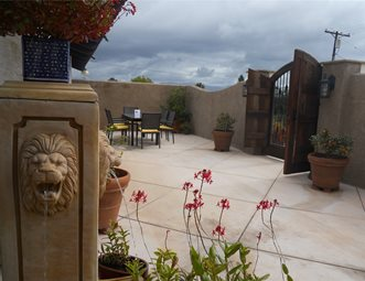 Patio With Southwest Feel Concrete Patio Landscaping Network Calimesa, CA