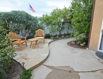 small patio small backyard concrete patio concrete patio dc west construction inc carlsbad concrete patio - Concrete Patio Design Ideas