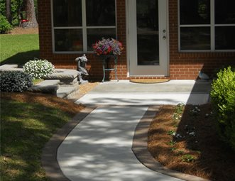 Concrete Walkway Pictures - Gallery - Landscaping Network