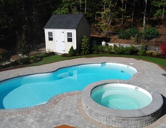 free form swimming pool country landscape design the gardeners kingston ma. Interior Design Ideas. Home Design Ideas