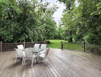 Large Wood Deck, Backyard Trees Deck Design Landscaping Network Calimesa, CA