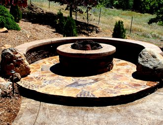 fire pit pictures - gallery - landscaping network - Patio With Fire Pit Ideas