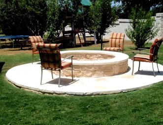 limestone fire ring fire pit greenscapes landscaping and pools austin tx - Fire Pit Design Ideas