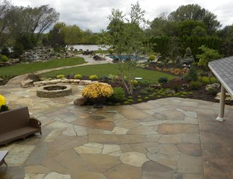 Irregular Flagstone Patio, Crazy Paving Flagstone Patio Smallu0027s Landscaping  Inc Valparaiso, ...