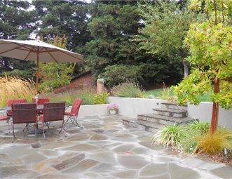 Irregular Flagstone Patio Flagstone Patio Huettl Landscape Architecture  Walnut Creek, CA