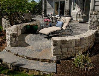 Patio Walls Flagstone Patio Big Sky Landscaping Inc. Portland, OR