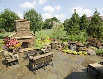 Stone Fireplace, Stone Patio Flagstone Riceu0027s Nursery U0026 Landscaping North  Canton, ...