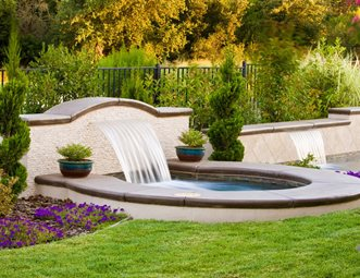 Custom Sheer Descent Fountain Fountain Simple Elegance Rocklin, CA. Urban  Garden ...