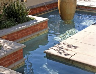 Patio Water Feature, Patio Fountain Fountain AMS Landscape Design Studios  Newport Beach, CA