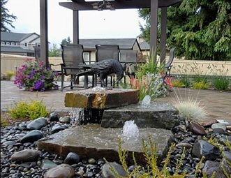 Pondless Water Feature Fountain Woodyu0027s Custom Landscaping Inc Battle  Ground, ...