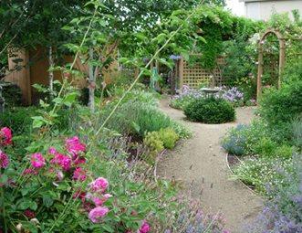 Blooming Garden Beds Garden Design Inside Out Davis, CA
