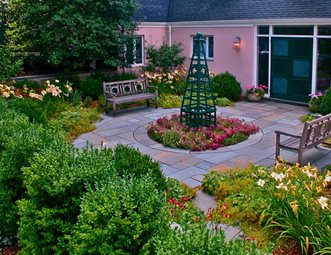 English Circular Patio Garden Garden Design Liquidscapes Pittstown, NJ Part 76