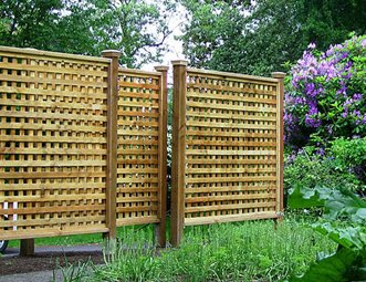 lattice fence gates and fencing paradise restored landscaping portland or