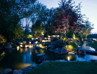 Backyard Waterfall Lighting Lighting Smallu0027s Landscaping Inc Valparaiso ... & Lighting Pictures - Gallery - Landscaping Network