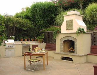 Large Outdoor Fireplace Mediterranean Fireplace Michelle Derviss Landscape  Design Novato  CAMediterranean Fireplace Pictures   Gallery   Landscaping Network. Large Outdoor Fireplace. Home Design Ideas