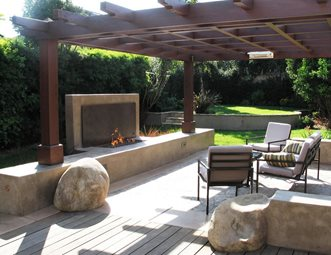 Etonnant Modern Fireplace Pergola Modern Landscaping Grounded Landscape Architecture  And Planning Encinitas, CA