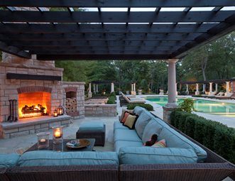 Amazing Covered Fireplace Patio, Outdoor Sectional Outdoor Fireplace Zaremba And  Company Landscape Clarkston, MI