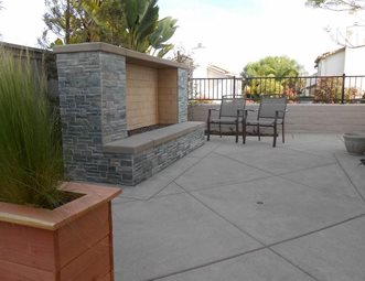 Modern Outdoor Fireplace, No Chimney Outdoor Fireplace Quality Living  Landscape San Marcos, CA