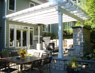 Attached Pergola, Custom Outdoor Kitchen, Grill Cover Outdoor Kitchen  Environmental Construction, Inc. Part 20