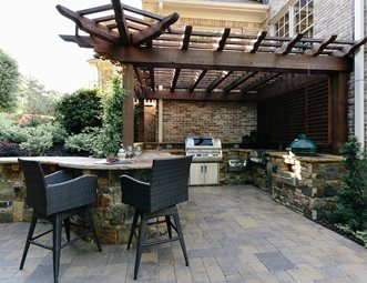 outdoor kitchen pergola contemporary canton outdoor kitchen custom kitchen miller landscape woodstock ga pictures gallery landscaping network