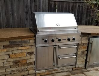 Outdoor Kitchen Island Built In Grill Greener Environments Los Osos Ca