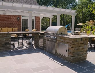 Stainless Steel Outdoor Kitchen Appliances Outdoor Kitchen Brown Design  Group New Stanton, PA