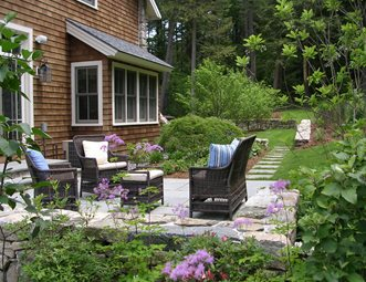 Back Patio, Stone Paving, Wicker Furniture Patio A. Bonadio U0026 Sons, Inc