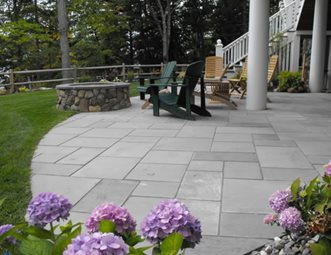 Cut Stone Patio Patio Belknap Landscape Co., Inc. Gilford, NH