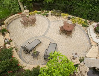 Designs For Backyard Patios outstanding brown square traditional stone backyard patio ideas ornamental flowers ideas interesting backyard Large Paver Patio Patio Outdoor Design Build Cincinnati Oh