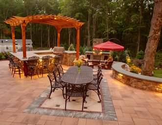 Paver Patio Fuax Rug Patio Neave Group Outdoor Solutions Stamford, CT