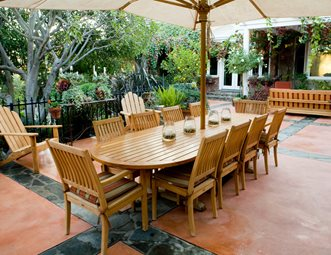 Stained Concrete Patio, Teak Patio Furniture Patio Landscaping Network  Calimesa, CA