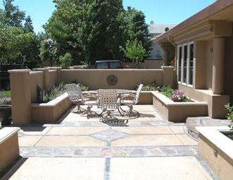 stone patio pattern patio inside out davis ca - Stone Patio Designs