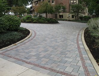 Gray Paver Driveway Border The Site Group Inc New