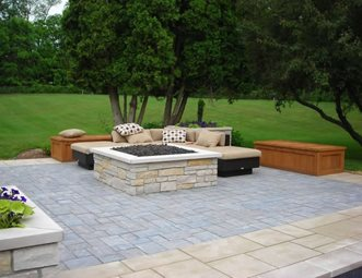Fire Pit Paver Patio Apex Landscape Grand Rapids, MI