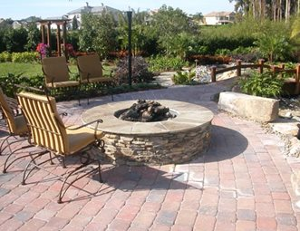 Charmant Fire Pit Paver Patio Landscaping Network Calimesa, CA
