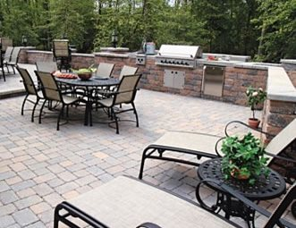 Delightful Outdoor Kitchen Pavers Paver Patio StoneScapes Design Hanover, MD