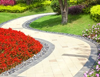 multi colored paver walkway paver walkway landscaping network calimesa ca