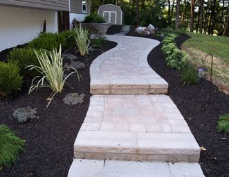 Paver Walkway Pictures Gallery Landscaping Network