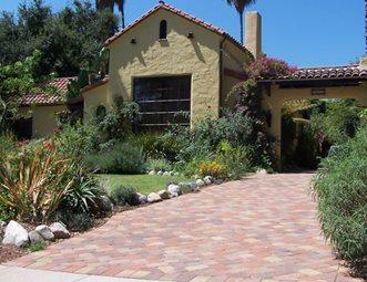 Spanish Front Yard, Driveway Paving Stones Paver Genesis Stoneworks  Moorpark, CA