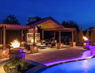 Genial Pergola Lighting, Luxury Backyard Pergola And Patio Cover McKay Landscape  Lighting Omaha, NE