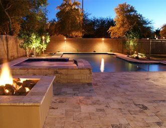 Pool Lights Phoenix Landscaping Alexon Design Group Gilbert Az