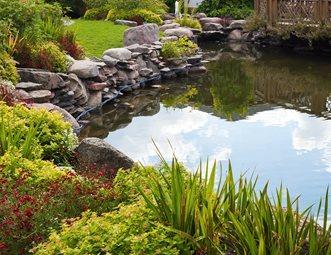 Large Backyard Pond Boulders And Waterfall Landscaping Network Calimesa Ca