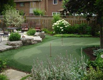 Small Backyard Putting Green Putting Green Renaissance Landscape Group Inc  Puslinch, ON
