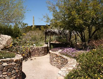 rock retaining walls desert garden retaining and landscape wall landscaping network calimesa ca - Rock Wall Garden Designs