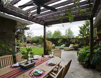 Covered Patio Southern California Landscaping Stout Design Build Los  Angeles, CA