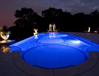 classical swimming pool fiber optics swimming pool cipriano landscape design mahwah nj - Swimming Pool Landscape Design