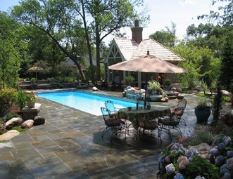 rectangular fiberglass pool swimming pool ogs landscape services whitby on