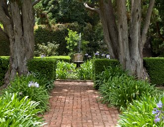 Brick Path, Straight Path Walkway And Path Grace Design Associates Santa  Barbara, CA